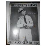 2 tin signs - Barney Fife and Busted Knuckle