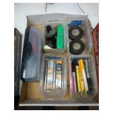 scissors, box cutters, brad nails, & electricians