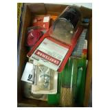 flat of misc shop supplies - filters