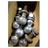 lot of trailer balls - two 2 inch, two 1.75 inch &
