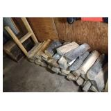 fire wood and two railroad ties