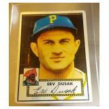 1952 Topps Baseball Erv Dusak #183