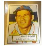 1952 Topps Baseball Solly Hemus #196