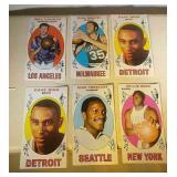 Six 1969-70 Topps Basketball Tall Boy cards