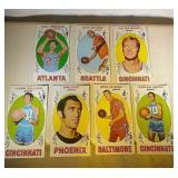 Seven 1969-70 Topps Basketball Tall Boy cards