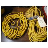 "extension cords w/light ends 50"" & 100"""