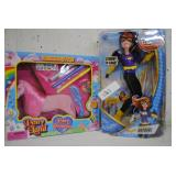 toy lot- pony princess and dc super hero girl doll