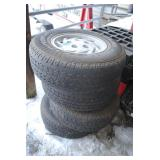 s/4 goodyear tires 235/75/15 on 5 bolt chevy wheel