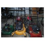 5 pushmowers for parts