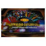 Set of 10 Pocket Knives in Tin Case
