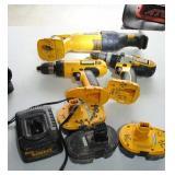 Dewalt 18v-2 Drills,Sawzall,3 Batteries,Charger