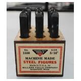 Miller Falls Company - Steel Numbers Set - in box