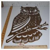 Owl - Powder Coated Metal Cutout