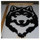 Wolf - Powder Coated Metal Cutout
