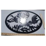 Deer/Turkey/Duck/Fish - Powder Coated Metal Cutou