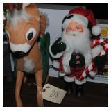 Annalee Santa and Reindeer