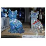 Fenton Glass Cats - Handpainted