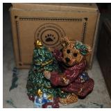 LOT-Boys Bear Statue, Tea Set and Extra TeaSet
