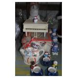 LOT-Snowman Candles,Figures,Piano