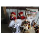 LOT-angel and caroler tree toppers
