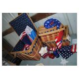 LOT-Americana Baskets and Decorations