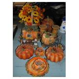 LOT-Fall Decorations - pumpkins, flowers,candles