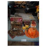 LOT-Turkey Platter,Trays,S/P.Tablecloth