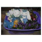 2 Boxes Spring Flowers and Easter Decorations