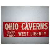 Ohio Caverns sign
