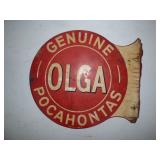 OLGA sign, double-sided