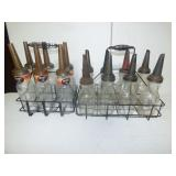 Glass oil bottles