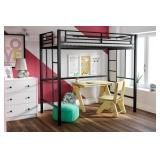 Your Zone Metal Twin Size Loft Bed