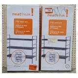 (2) Neat Freak 3 Tier Mesh Racks