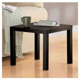 Mainstays Parsons Espresso Finish End Table