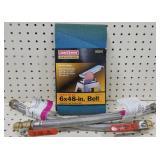 50 Grit Sanding Belt & (2) Water Heater Connectors