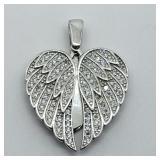 """Sterling Silver """"Angel Heart""""  Pendant"""