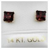 14K Garnet Earrings