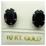 10k Eg Garnet Earrings