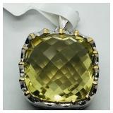 Brass Lemon Topaz Pendant