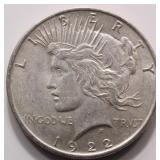 1922 Silver Liberty Peace Dollar