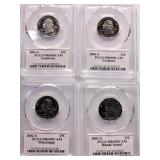 (4) State Uncirculated Quarters (MS,KY,RI,VT)