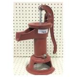 Antique Red Hand Pump