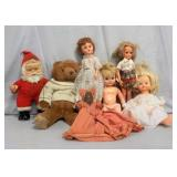 (5) Dolls, (1) Smokey The Bear, & Others