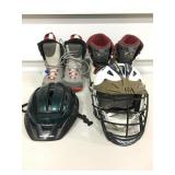 (2) Pairs Snowboarding Boots, Helmet, & More