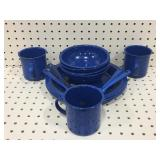 (15) Piece Enamel Dish Set
