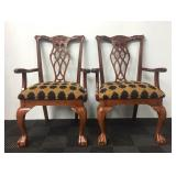 (2) Wood Chairs With Cushions