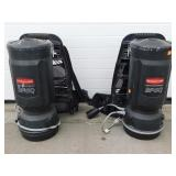 (2) Rubbermaid BPGQ Commercial Back Pack Vacuum