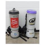 (2) Back Pack Vacuums - Super Coach Pro & All Star