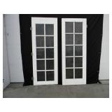 80h 30w Pair Of 10 Pain Window Doors White