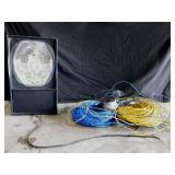 Strobe Light, (2) Rounds Of Ethernet Cable/White